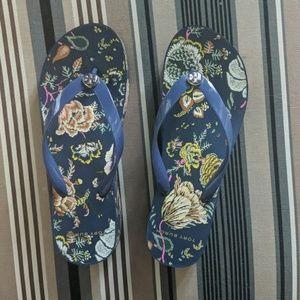 Tory Burch flip flops size 9